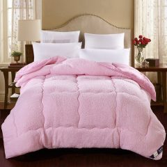 【PACA蓝岸】新款冬被 羊羔绒被芯 加厚保暖 200*230cm双人7斤被子 粉色 200×230