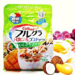 Calbee/卡乐比  南国芒果口味 冲饮麦片 700g 营养早餐 水果颗粒果仁谷物
