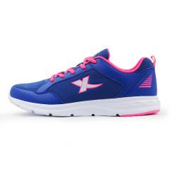 特步女士跑步鞋2016夏季新款轻便透气舒适缓震耐磨休闲运动旅游鞋984218119753 蓝色 39