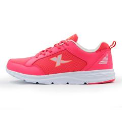 特步女士跑步鞋2016夏季新款轻便透气舒适缓震耐磨休闲运动旅游鞋984218119753 西瓜红 3