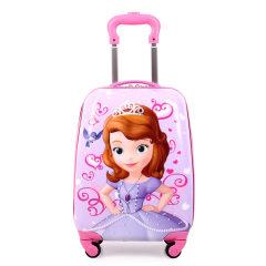 臻美萱 男女童万向轮18寸拉杆箱儿童卡通旅行箱学生行李箱登机箱 索菲亚 18寸