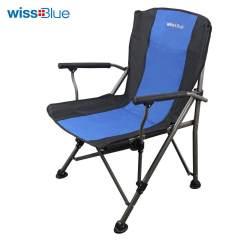 wissblue钓鱼沙滩野餐午休午睡休闲户外折叠椅子靠背躺椅便携超轻WD5030 蓝色 22*16*