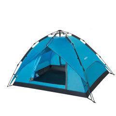 wissblue户外自动帐篷速开双层防蚊透气防雨3-4人野营帐天幕WR6033 天蓝色 双人