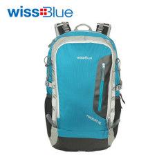 wissblue38l登山包男 女双肩包正品户外背包 户外野营旅行背包 孔雀绿 38L