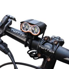 HASKY-K2E自行车前灯 山地车公路车骑行照明LED强光灯 8800毫安标准套装(红色)