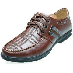 索里奥男式头层软牛皮时尚休闲鞋9969 棕色 38