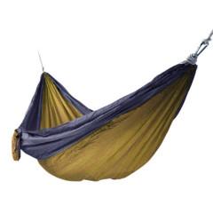 旅行家 出口货旅行家加宽加大降落伞布吊床单人双人室内户外野营吊床送绳 驼灰 300*180cm