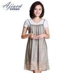 AJIACN/爱家 针织银纤维防辐射吊带裙 孕妇裙 防辐射服10035 银色 L