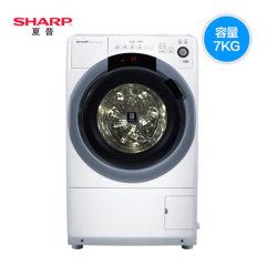 Sharp夏普 XQG70-6745W-H 7公斤变频滚筒洗衣机水温调节热水洗涤