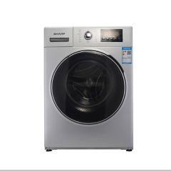 夏普(SHARP) XQG90-2758W-H 9KG全自动滚筒洗衣烘干一体机 1400转变频电机