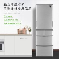 夏普冰箱SJ-SA41W-S左右开门可转换多门冰箱六门分类存储PCI净离子群全自动制冰机412升