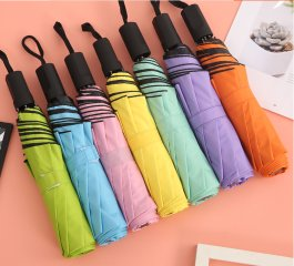 千色雨伞半自动晴雨伞