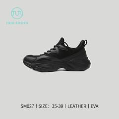 时尚透气运动鞋 黑色 35