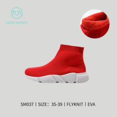 巴黎高帮袜子款(加厚) 红色 35