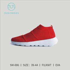 高弹丝编织袜子款休闲鞋 红色 40