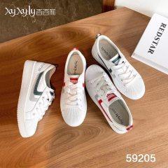 精致女款小白鞋 红色 36