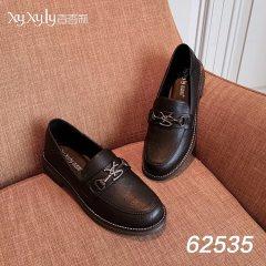 女款英伦简约小皮鞋 黑色 36