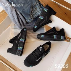 女款 彩虹款飞织鞋 黑色 36