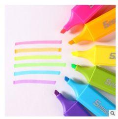 齐心HP908荧光笔 彩色六色醒目荧光笔 记号标记学生笔划 蓝色 HP908 1支