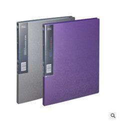 齐心资料册MF20AK办公用品美石系20袋A4文件册 文件夹插页亚银色 亚银