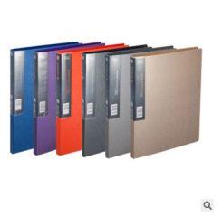 齐心单长押夹A623 A4美石轻便文件夹 办公学习用品 银钨色 银钨