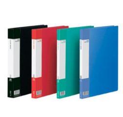 齐心资料册PF40AK 经济型蓝色资料册 资料夹 文件夹插页插袋A440袋 蓝色