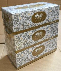 心相印商用(恒金)D130盒装面巾纸 1提(3盒)