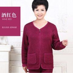天鸿雅达中老年女士保暖上衣单件  3302  6936288133021 酒红 XL