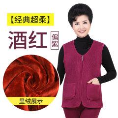 天鸿雅达 中老年女士保暖马甲 单件 3202 酒红 L