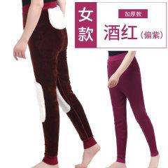 天鸿雅达 中老年女士獭兔贴片保暖裤3110 酒红 L
