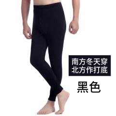 天鸿雅达 男士薄款加绒裤打底秋裤 32605-1 黑色 L