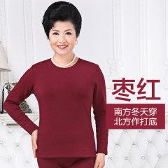 天鸿雅达 中老年女士打底秋衣单件 32818 枣红 L