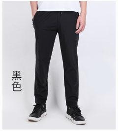 男士速干休闲裤宽松大码高弹透气 黑色 XL