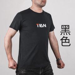 男士速干T恤透气宽松大码 黑色 XL