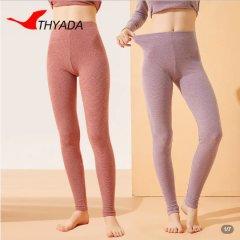 【比普通秋裤稍厚些】加厚彩条磨绒打底裤 彩条紫 XL
