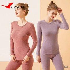 彩条磨毛保暖上衣 彩条紫 XL
