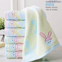 金号纯棉毛巾卡通情侣款式 GA1271H 红色 70*34cm 小兔