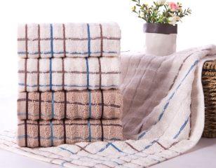 金号GA1016全棉毛巾纯棉面巾超值吸水 白色 70*34cm 条纹