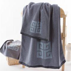 金号浴巾纯棉成人正品包邮 男女情侣加大加厚1.5米柔软吸水素色3206 棕色 150*73cm 素色