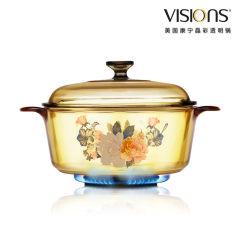 美国康宁 晶彩玻璃透明锅 炖锅 汤锅 炖煲2.25L   VS-22-FLR