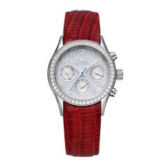 尼诺里拉 手表 皮带石英女表 红色 女表