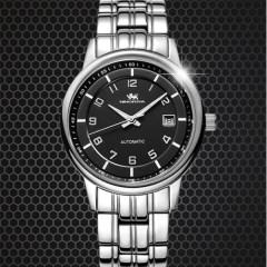 尼诺里拉 手表 钢带机械表 白色表盘 男表