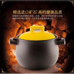 嘉炖 新陶养生炖煲  汤锅 养生锅 炖煲 棕色 2.8L