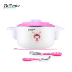 贝立安 艾丝诺萌宝三件套不锈钢餐具三件套 粉色BJH-CJ0301
