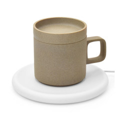 麦极客 55°美式咖啡杯无线充电 无线加热 陶瓷杯子商务杯 250ML 黑色