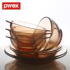 美国百丽 PYREX餐具组 餐具套装 沙拉碗 玻璃餐具 玻璃餐具 六件套