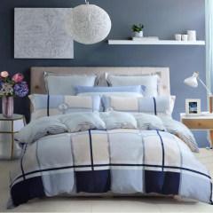 水星家纺 纯爱印象全棉床品四件套 床单 被套 枕套