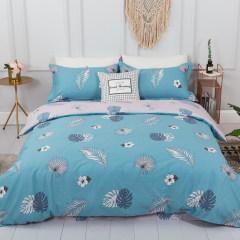 圣米歇尔家纺 健康印花全棉件套 床品四件套 被套 床单 枕套