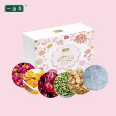 一味真 玫瑰菊花茶88型(玫瑰花、金盏菊、洛神花、荷叶、甘草片冰糖)