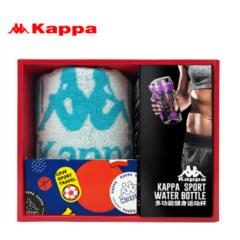 Kappa 750ML炫彩运动杯紫色+ BANDA短款运动巾蓝色礼盒 水杯毛巾套装KPXL-004